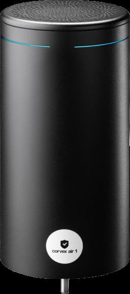 Corvex Air 1 Premium UVC Luftentkeimer, aus Edelstahl, schwarz, seidenmatt, pulverbeschichtet