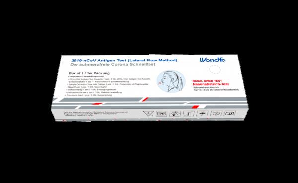 WONDFO Laientest 2019-nCoV Antigen Nasentupfer EINZELPACK